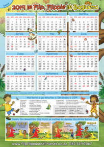 Flip Flippie and Friends Sepedi Calendar