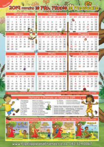 Flip Flippie and Friends Sesotho Calendar