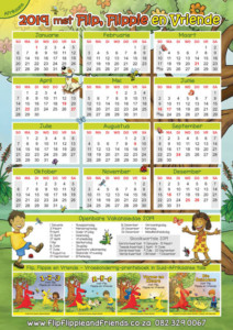 Flip Flippie and Friends Afrikaans Calendar
