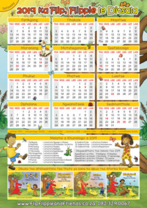 Flip Flippie and Friends Setswana Calendar