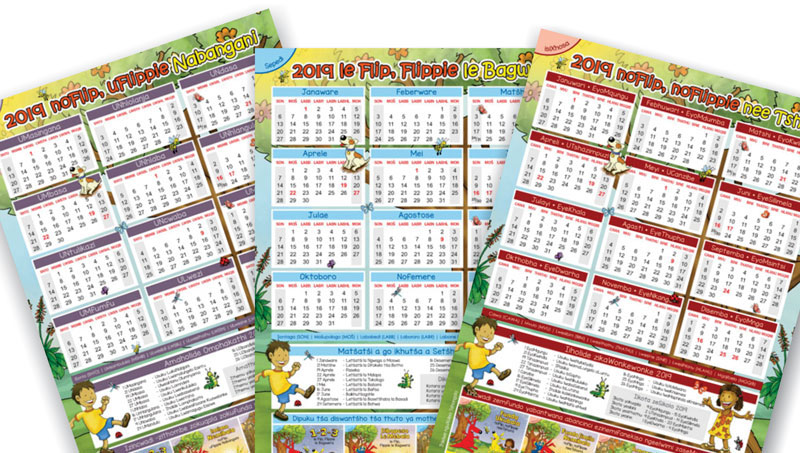 2019 calendars in south african languages are now available for free downloading on our website