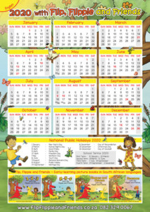 Flip Flippie and Friends English Calendar